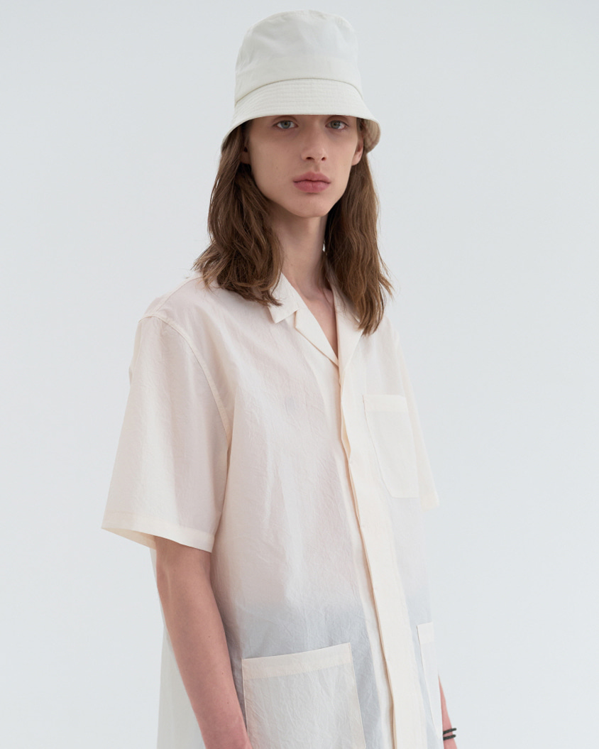 Basic Short Bucket Hat / Ivory