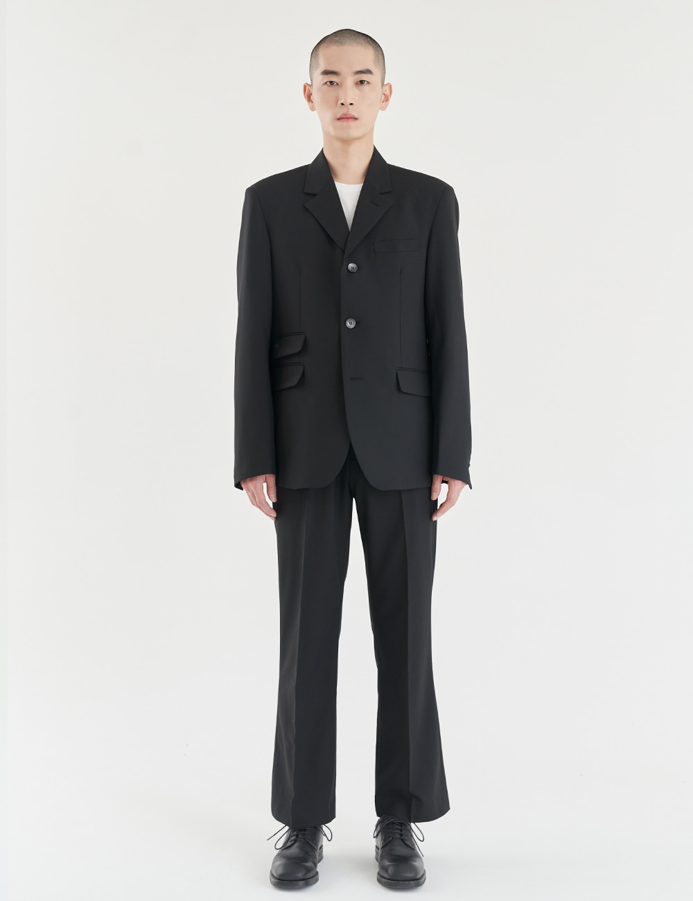Giovanni Ticket Pocketed Wool Jacket / Black